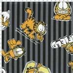 Tecido Estampado para Patchwork - Garfield com Listras Cinza (0,50x1,40)