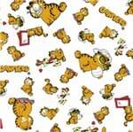 Tecido Estampado para Patchwork - Garfield Expressão Fundo Branco (0,50x1,40)