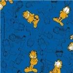 Tecido Estampado para Patchwork - Garfield Mono Fundo Azul (0,50x1,40)