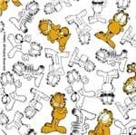 Tecido Estampado para Patchwork - Garfield Mono Fundo Branco (0,50x1,40)