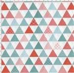 Tecido Estampado para Patchwork - Geo Sky: Triângulos Verde (0,50x1,40)