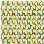 Tecido Estampado para Patchwork - Girafa Fundo Bege Cor 01 (0,50x1,40)