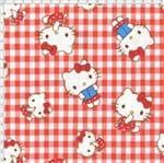 Tecido Estampado para Patchwork - Hello Kitty Cherry (0,50x1,40)