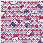 Tecido Estampado para Patchwork - Hello Kitty Doctor (0,50x1,40)