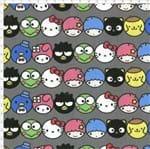 Tecido Estampado para Patchwork - Hello Kitty Emojis (0,50x1,40)
