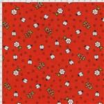 Tecido Estampado para Patchwork - Joaninha Fundo Vermelho Cor 02 (0,50x1,40)