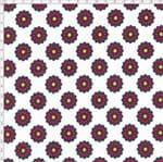 Tecido Estampado para Patchwork - Luminous By Carol Viana: White Flower (0,50x1,40)