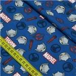Tecido Estampado para Patchwork - Marvel: Thor Fundo Azul (0,50x1,50)
