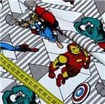 Tecido Estampado para Patchwork - Marvel: Vingadores Retrô (0,50x1,50)