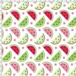 Tecido Estampado para Patchwork - Melan & Cia: Fatias Multicolor (0,50x1,40)