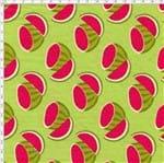 Tecido Estampado para Patchwork - Melan & Cia: Melancias Cortadas (0,50x1,40)