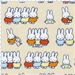 Tecido Estampado para Patchwork - Miffy Família Bege Cor 01 (0,50x1,40)