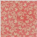 Tecido Estampado para Patchwork - Millyta Four Seasons Arabesco Fundo Rose (0,50x1,40)