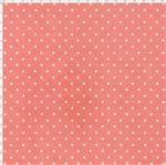 Tecido Estampado para Patchwork - Millyta Four Seasons Poá Fundo Rose (0,50x1,40)