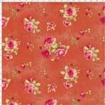 Tecido Estampado para Patchwork - Millyta Four Seasons Rosas Arabesco com Fundo Rose (0,50x1,40)