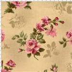 Tecido Estampado para Patchwork - Millyta La Vie En Rose Rosas com Texturas Bege Cor 01 (0,50x1,40)