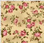 Tecido Estampado para Patchwork - Millyta La Vie En Rose Rosas Média Bege Cor 01 (0,50x1,40)