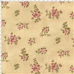 Tecido Estampado para Patchwork - Millyta La Vie En Rose Rosas Pequena Bege Cor 01 (0,50x1,40)
