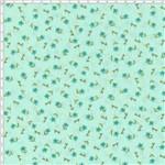 Tecido Estampado para Patchwork - Mini Floral Fundo Verde 03 (0,50x1,40)