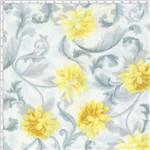 Tecido Estampado para Patchwork - Mirella Floral Barroco Cinza 04 (0,50x1,40)