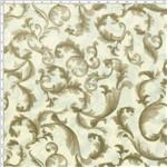 Tecido Estampado para Patchwork - Mirella Folhagem Barroco Bege 03 (0,50x1,40)