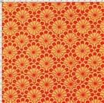 Tecido Estampado para Patchwork - Modern Oriental: Textura Laranja (0,50x1,40)