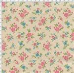 Tecido Estampado para Patchwork - Mundo dos Pássaros Mini Rosinhas Cor de Rosa (0,50x1,40)