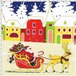 Tecido Estampado para Patchwork - Natal 33254 Santa Claus Cor 01 Bege (0,60x1,40)