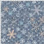 Tecido Estampado para Patchwork - Natal 325325 Flocos de Neve Cor 590 (0,50x1,40)