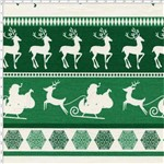Tecido Estampado para Patchwork - Natal 338508 Barrado Natal Verde Cor 330 (0,50x1,40)