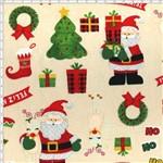 Tecido Estampado para Patchwork - Natal 338508 Big Noel Chaminé Cor 220 (0,50x1,40)