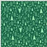 Tecido Estampado para Patchwork - Natal 338508 Composê Pinheiros Verdes Cor 410 (0,50x1,40)