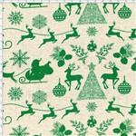 Tecido Estampado para Patchwork - Natal 338508 Natal Verde Cor 350 (0,50x1,40)