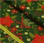 Tecido Estampado para Patchwork - Natal Flor de Natal Cor 01 (0,50x1,40)