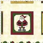 Tecido Estampado para Patchwork - Natal Painel Almofada Papai Noel (0,60x1,40)