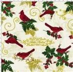 Tecido Estampado para Patchwork - Natal Pássaros Natalinos Cor 01 (0,50x1,40)