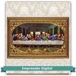 Tecido Estampado para Patchwork - Natal Santa Ceia Cor 1 (0,60x1,40)