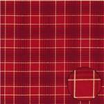 Tecido Estampado para Patchwork - Natal Xadrez Médio Vermelho C02 (0,50x1,40)