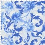 Tecido Estampado para Patchwork - NK001 Mirella Floral Barroco Azul 02 (0,50x1,40)