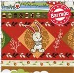 Tecido Estampado para Patchwork - Páscoa Barrado Coelhinho Cor 2167 (0,50x1,40)