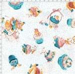 Tecido Estampado para Patchwork - Páscoa Cupcake de Páscoa Cor 1 (0,50x1,40)