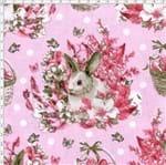 Tecido Estampado para Patchwork - Páscoa Easter Flower Cor 1 (0,50x1,40)
