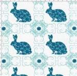 Tecido Estampado para Patchwork - Páscoa Le Petit Lapin Azul Cor 02 (0,50x1,40)