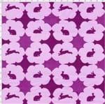 Tecido Estampado para Patchwork - Páscoa Le Petit Lapin Mosaique Lilás Cor 01 (0,50x1,40)