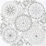 Tecido Estampado para Patchwork - Pintar e Bordar Cor 01 (0,60x1,40)