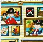Tecido Estampado para Patchwork - Pirata 277231 Cor 1442 (0,60X1,40)