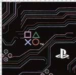 Tecido Estampado para Patchwork - Playstation Circuit Fundo Preto (0,50x1,40)