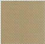 Tecido Estampado para Patchwork - Poá Caqui com Bolinhas Brancas Cor 52 (0,50x1,40)