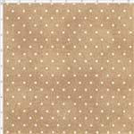 Tecido Estampado para Patchwork - Poeirinha com Poá Cor 2116 Camurça (0,50x1,40)