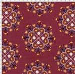 Tecido Estampado para Patchwork - Portugal PivCat: Floral Composê de Barcelos (0,50x1,50)